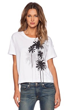 rag & bone/JEAN Suzanne Palm Tee in White