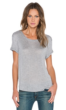 rag & bone/JEAN Melissa Tee in Light Grey Melange