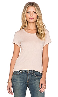 rag & bone/JEAN Classic Tee in Heather Rose