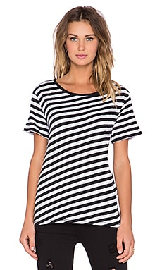 rag & bone/JEAN Concert Stripe Tee in Black