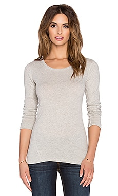 rag & bone/JEAN Long Sleeve Tee in Oatmeal