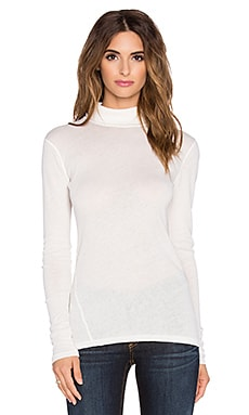 rag & bone/JEAN Turtleneck Tee in White