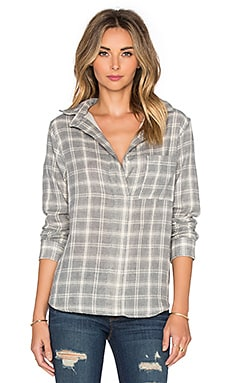 rag & bone/JEAN Leeds Button Up in Charcoal Plaid