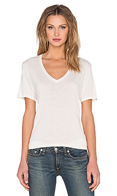 rag & bone/JEAN Concert V-Neck Tee in Natural White