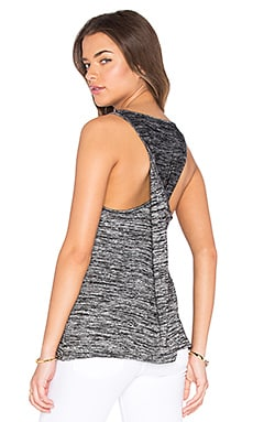 rag & bone/JEAN Twist Back Tank in Black Heather