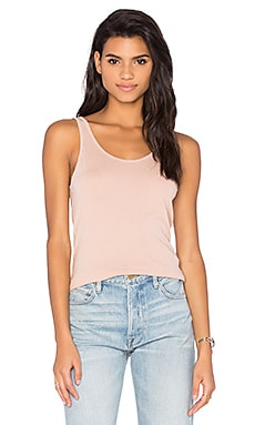 Scoop Neck Tank in Nude Blush