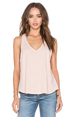 Audrey V Neck Tank in Cameo Rose