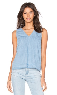 rag & bone/JEAN Drape V Neck Tank in Kenton