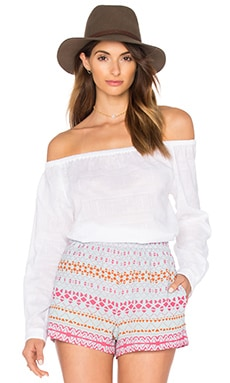rag & bone/JEAN Off The Shoulder Top in White