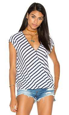 rag & bone/JEAN Ash Twist Top in Indigo & White