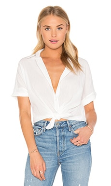 rag & bone/JEAN Tie Shirt in White