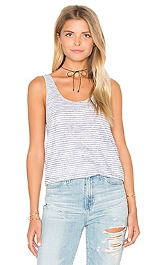 rag & bone/JEAN Summer Stripe Canyon Tank in Black & Black Stripe