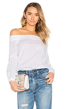 Drew Off the Shoulder Top in White