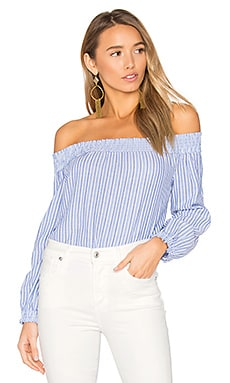 Stripe Drew Top in Blue & White Stripe