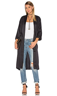 Ragdoll Silk Kimono in Black