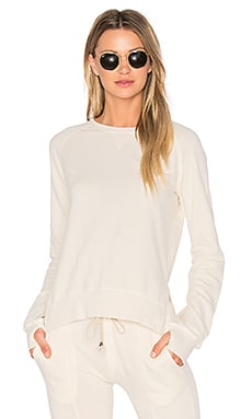 Puff Sleeve Sweatshirt in Off White
