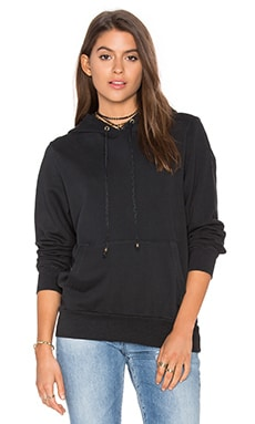 Ragdoll Pull On Hoodie in Faded Black