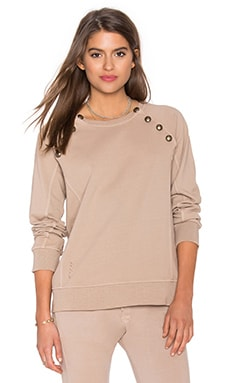 Sweatshirt with Brass Buttons