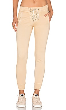 Lace Up Pant en Faded Camel
