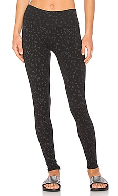 Leopard Leggings in Faded Black