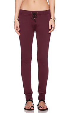 Ragdoll Skinny Long John Sweatpant in Bordeaux