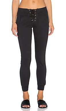 Ragdoll Lace Up Pant in Black