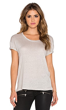 Ragdoll Linen Tee in Light Grey