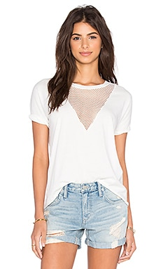 Ragdoll Vintage Mesh Tee in Off White