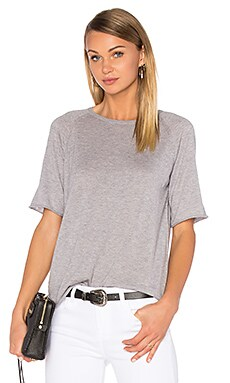 Cashmere Tee in Light Grey