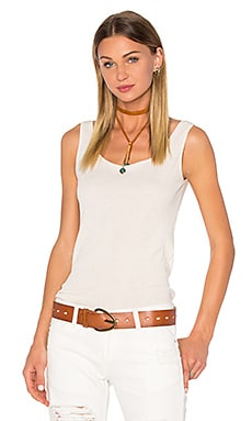 Ragdoll Low Back Rib Tank in Bone White