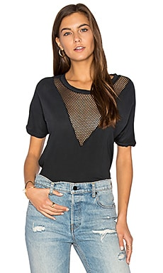Mesh Tee in Washed Black