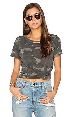 Distressed Vintage Tee in Camo