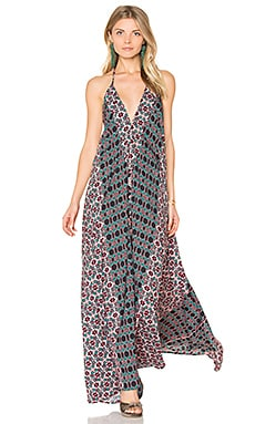 Electric Nights Maxi Dress in Black
