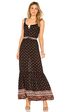 Nocturnal Daze Ruffle Sleeve Maxi In Black Raga $72