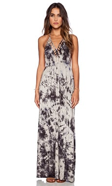 Raga Cloud Gazer Halter Maxi Dress in Grey