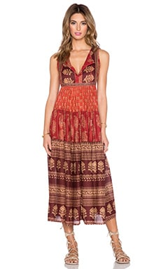 Raga Indian Summer Maxi Dress in Red