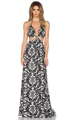 Raga Blackbird Cutout Maxi Dress in Black & White