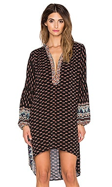Raga Tangerine Skies Tunic in Black