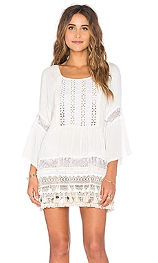 Sun Goddess Tunic Dress in Eggshell