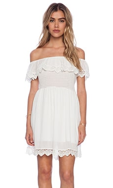 Lace Mini Dress in White