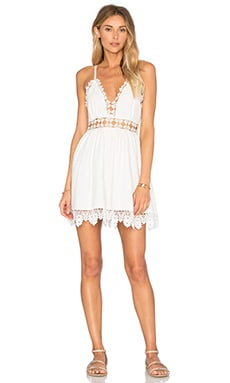 Cut To It Dress en Blanc