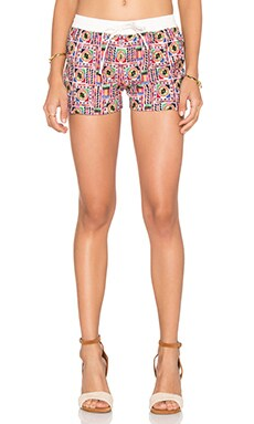Raga Mosaic Shorts in White