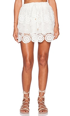 Raga Lovely Mini Skirt in White