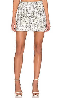 Raga Beaded Mini Skirt in Eggshell
