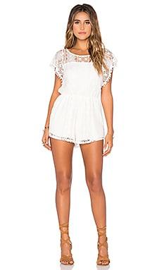 Vanilla Lace Romper in White