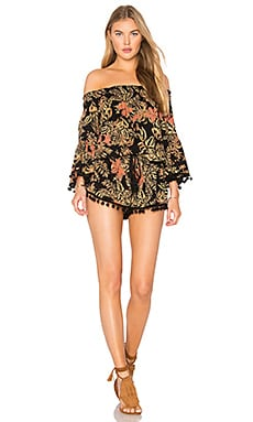 Island Fever Romper in Black