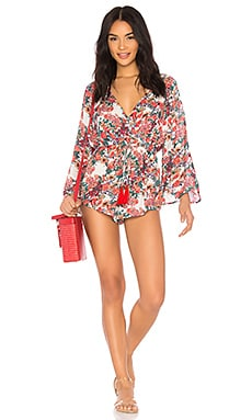 Garden Delight Surplice Romper In Multi Raga $84