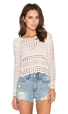 Raga Native Plains Top in Eggshell