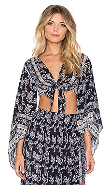 Moonriver Wrap Top en Marine