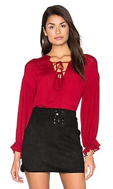 Bewitched Top en Bordeaux